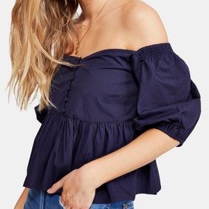 Free People Veronica off the shoulder top